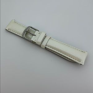 Michele | 18mm Pearl Patent Leather Watch Band